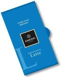 Amedei Toscano Brown Latte Milk Chocolate Bar, 50g/1.75oz (Single)