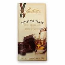 Butlers Irish Whiskey Dark Chocolate with Irish Whiskey Bar 100g /3.52oz  (Single)