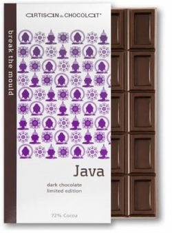 Artisan du Chocolat Java Dark Bar, 72% Cocoa, 45g/1.59oz