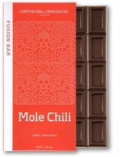 Artisan du Chocolat Mole Chili Dark Bar, 70% Cocoa, 45g/1.59oz
