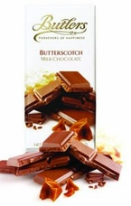 Butlers Butterscotch Milk Chocolate Bar 100g /3.52oz (6 Pack)