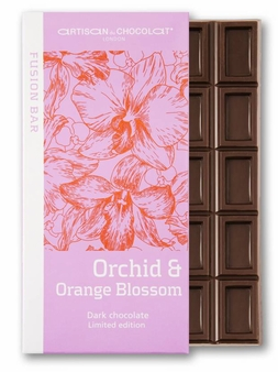 Artisan du Chocolat Orchid & Orange Blossom Dark Chocolate 72% Cocoa, 45g/1.59oz