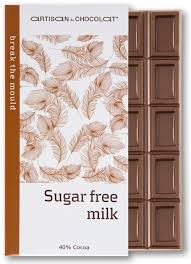 Artisan du Chocolat Sugar Free Milk Bar, 40% Cocoa, 45g/1.59oz