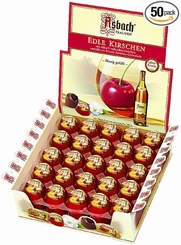 Asbach Edle Kirschen Chocolate Brandy Cherries , 50 Piece Box (Single)