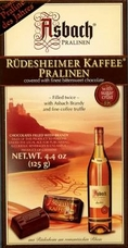Asbach Rudesheimer Kaffee Pralinen-Asbach Brandy and fine coffee truffle with sugar crust 4.4 oz/125g (Single)