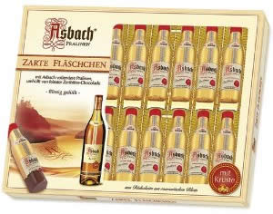Asbach Zarte Fl�schchen, 20 Brandy-filled Pralines Bottles, Gift Box, 250g / 8.8oz (Single)
