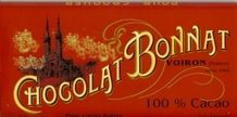 Bonnat French Chocolate - 100% Pure Cocoa Dark Chocolate, 100g/3.5oz. (Single)