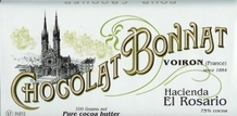 "Bonnat French Chocolate - Hacienda ""El Rosario"" 75% Cocoa Dark Chocolate, 100g/3.5oz. (Single)"