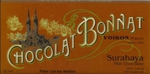 "Bonnat French Chocolate - ""Surabaya"" 65% Cocoa Milk Chocolate, 100g/3.5oz.  (Single)"