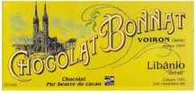 "Bonnat ""Libanio"" Brazil - 75% Cocoa Dark Chocolate, French Chocolate, 100g/3.5oz. (Single)"