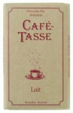 Café - Tasse Belgian Chocolate - 35% Milk Chocolate Bar, 100g/3.5oz.  (12 Pack)