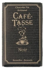 Caf� - Tasse Belgian Chocolate - 57% Dark Chocolate Bar, 100g/3.5oz.  (12 Pack)