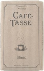 "Café - Tasse Belgian Chocolate - ""Blanc"" White Chocolate Bar, 100g/3.5oz. (6 Pack)"
