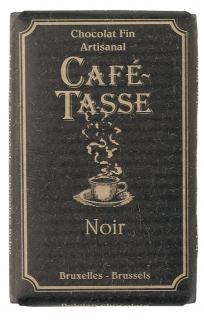 Café - Tasse Belgian Chocolate - 57% Dark Chocolate Bar, 100g/3.5oz.  (Single)