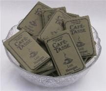 "Cafe- Tasse Belgian Chocolate - 9g Mini Bars ""Lait Caramel Salt"",  40Ct.. Bag"