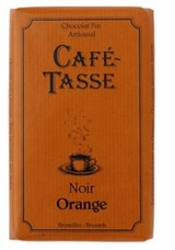Cafe - Tasse Belgian Chocolate - Dark Chocolate Bar with Orange Peel, 54% Cocoa, 85g/3oz.