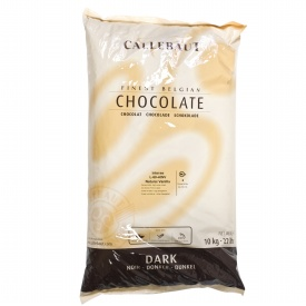 "Callebaut Belgian Chocolate, Dark Chocolate Bitter - Sweet ""Callets"", Chocolate Chips, 60.3/60.6% Cocoa, natural vanilla, (11kg/22lb Bag)"