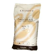 "Callebaut Belgian Chocolate, Dark Chocolate Extra - Bitter ""Callets"", Chocolate Chips, 70.4% Cocoa,(11kg/22lb Bag)"