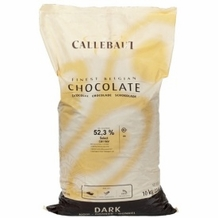 "Callebaut Belgian Chocolate, Dark Chocolate Semi - Sweet ""Callets"", Chocolate Chips, 52.3/53.1% Cocoa, (11kg/22lb Bag)"