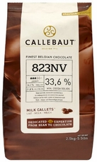 Callebaut Belgian Chocolate, Milk Chocolate Callets , Chocolate Chips, 33.6% Cocoa, 2kg/5.5lbs. Bag