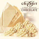 "Callebaut Belgian Chocolate, White Chocolate ""Chips"", Chocolate Chips, 28.1% Cocoa, 2kg/5.5lbs. Bag"