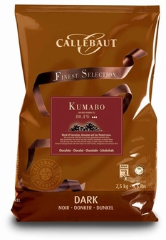 "Callebaut (Finest Selection) Chocolate, ""Kumabo"" Extremely Dark Chocolate Extra - Bitter ""Callets"", Chocolate Chips, 80.1% Cocoa, 2.5kg/5.5lbs"