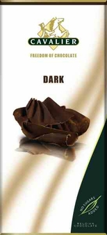 "Cavalier Belgian Chocolate - Dark Chocolate ""No Sugars Added"", 55% Cocoa, 85g/3.0oz.(Single)"