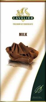 "Cavalier Belgian Chocolate - Milk Chocolate ""No Sugars Added"", 37% Cocoa, 85g/3.0oz.(Single)"