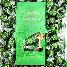 Basket - Lindt Dark Chocolate/Mint Truffle (green wrap) 120 Pieces