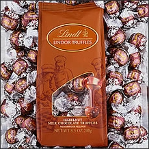 Basket  - Lindt Milk Chocolate/Hazelnut Truffle (brown wrap) 120 Pieces