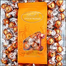 Basket  - Lindt Peanut Butter Truffle (light brown wrap) - 120 Pieces