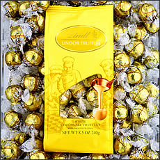 Basket - Lindt White Chocolate Truffle (yellow wrap) 120 Pieces
