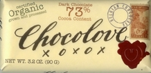 "Chocolove Belgian Chocolate - ""Organic"" Dark Chocolate, 73% Cocoa, 90g/3.2oz."