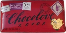 Chocolove Belgian Chocolate - Rich Dark Chocolate, 65% Cocoa, 90g/3.2oz.
