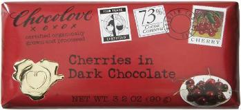 "Chocolove ""Cherries in Dark Chocolate"", 73% Cocoa, 90g/3.2oz. (6 Pack)"