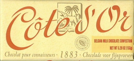 "Cote d'or Belgian Chocolate - Belgian Creamy Milk Chocolate, ""Lait - Melk"", 32% Cocoa, 150g/5.3oz."