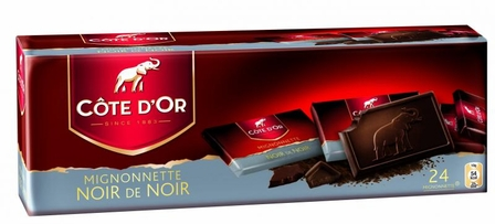 "Cote d'or Belgian Chocolate - Dark Chocolate ""Noir de Noir"" Mignonettes 54% Cocoa, 240g/8.4oz.  (6 Pack)"
