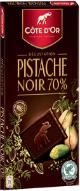 "Cote d'or Belgian Chocolate - ""Dark Chocolate with Pistachios"", 70% Cocoa, 100g/3.5oz."