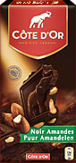 "Cote d Or Belgian - ""Dark Chocolate with Whole Almonds"", 46% Cocoa 7.05oz./200g (5 Pack)"
