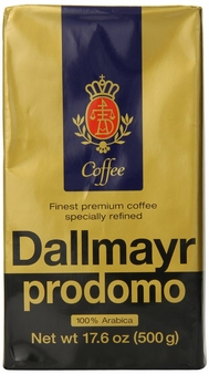 Dallmayr- Prodomo Ground Coffee Vacuum Pack, 17.6oz/500g (Single)