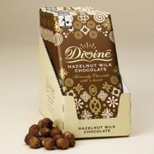 "Divine ""Fair Trade"" 28% Milk Chocolate with Hazelnuts, 100g/3.5oz. (10 Pack)"