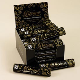 "Divine ""Fair Trade"" 70% Dark Chocolate, 45g/1.5oz. (5 Pack)"