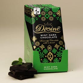 "Divine ""Fair Trade"" 70% "" Mint Dark Chocolate"", 100g/3.5oz. (Single)"