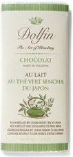 "Dolfin Belgian Chocolate - 32% Cocoa Milk Chocolate Bar with ""Sencha Green Tea"", 70g/2.47oz (Single)."