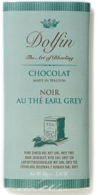 Dolfin Belgian Chocolate - 52% Cocoa Dark Chocolate Bar with Earl Grey Tea, 70g/2.47oz.  (5 Pack)