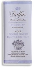 "Dolfin Belgian Chocolate - 52% Cocoa Dark Chocolate with ""Lavender"" Bar, 70g/2.47oz (15 Pack)."