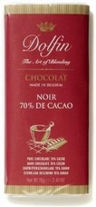 Dolfin Belgian Chocolate - 70% Cocoa Dark Chocolate Bar, 70g/2.47oz. (Single)