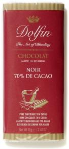 Dolfin Belgian Chocolate - 70% Cocoa Dark Chocolate Bar, 70g/2.47oz. (5 Pack)