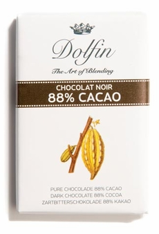 "Dolfin NEW SIZE!! - 88% Cocoa ""Noir 88"" Dark Chocolate, ""12ct"". .35oz./ea.(Single)"