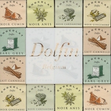 "Dolfin Belgian Chocolate - ""Dark & Milk Spice Assortment"" Ginger, Earl Grey, Cinnamon, cardomom, aniseed, cumin. 216g/7.6oz"